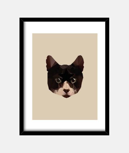 boîte de chat bas poly