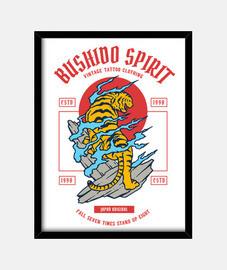 boite retro esprit bushido japon guerrier vintage samouraï