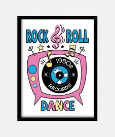 boîte rétro fête des années 1950 rock and roll dance party chaussette hop rockabilly musique vintage