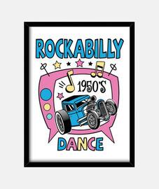 boîte rockabilly musique années 50 rock and roll vintage hotrod USA fifties