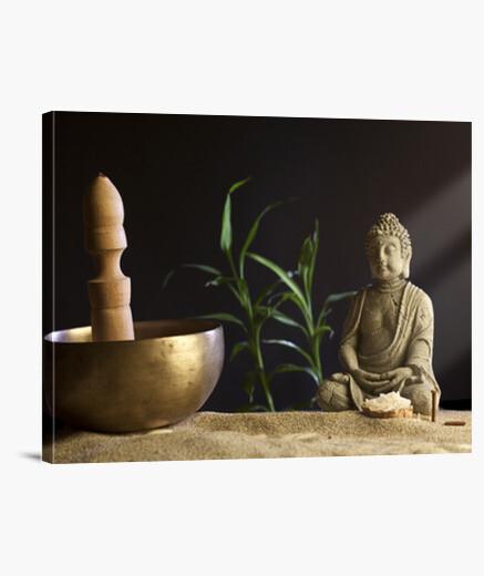 Tableau bol et bouddha tibétain