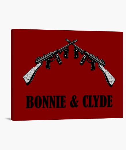 Lienzo Bonnie y Clyde