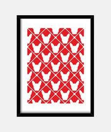 bouledogue français - rouge et blanc