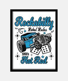 box vintage musica rockabilly hotrod anni '50 vintage usa rock and roll macchine americane