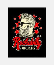 box vintage rockabilly rockers ribelli rules usa rock e roll di musica