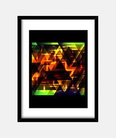 Brillantes triángulos brillantes.