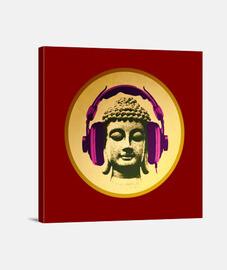 BUDDHA ROCK // Impression sur toile / Fond rouge