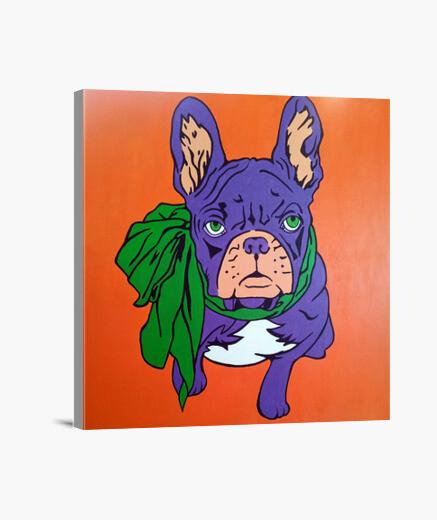Lienzo Buldog frances pop art