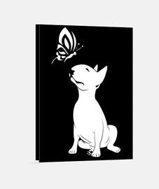 bull terrier butterfly