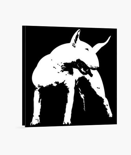 Lienzo Bull terrier estilo pop art