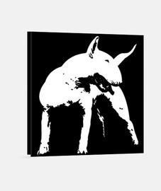 bull terrier style pop art