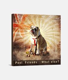 bulldogge leinwand 1: 1 - (40 x 40 cm)