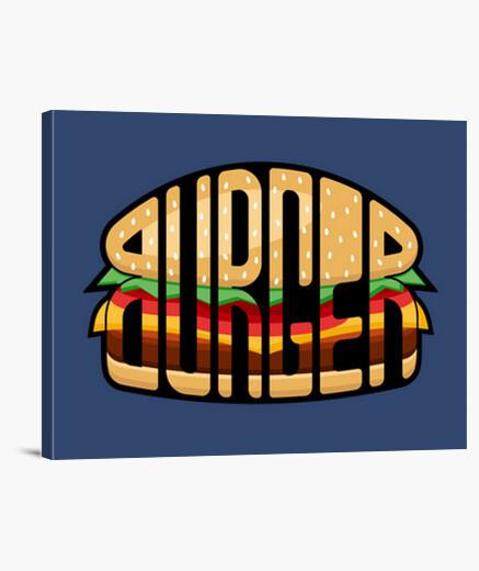 Burger calligram canvas