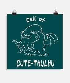 C'Thulhu - Póster cuadrado