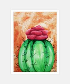 Cactus fondo naranja
