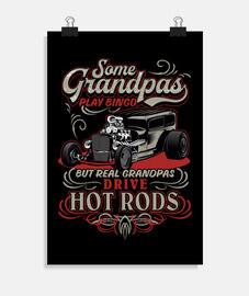 cadeau affiche rétro pour les grands-parents rockers vintage hotrod USA rock and roll