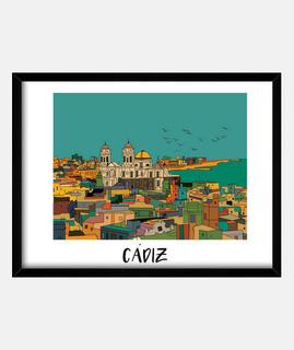 Cádiz Cuadro con marco horizontal 4:3 (40 x 30 cm)