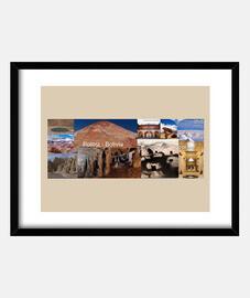 cadre avec cadre horizontal noir 4: 3 (20 x 15 cm) tourisme potosi