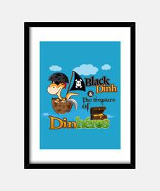Cadre Black Dinh Dinosaure pirate