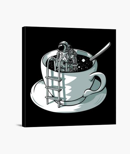 Lienzo café espacial