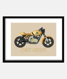 Cafe racer amarilla