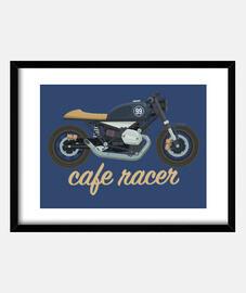 Cafe racer azul