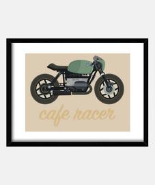 Cafe racer verde