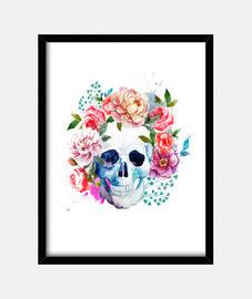 Calavera Mexicana Pintura Cuadro
