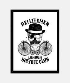 Calavera y bicicleta vintage