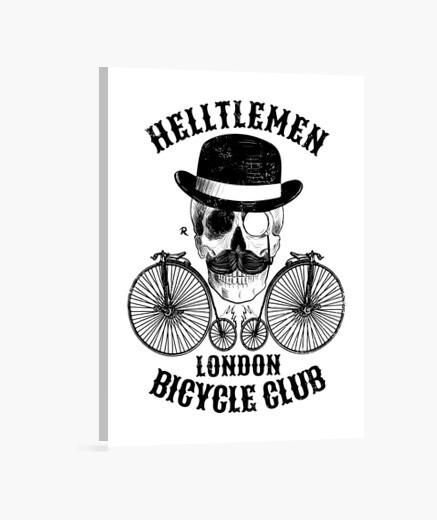 Lienzo Calavera y bicicleta vintage