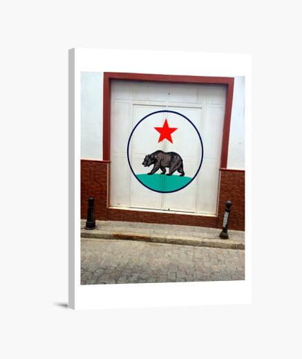 Lienzo California Republic Door