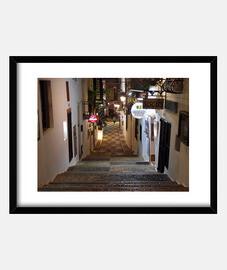 Calle con escalinata en Altea