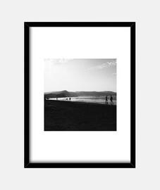 Canarias - Cuadro con marco negro vertical 3:4 (15 x 20 cm)