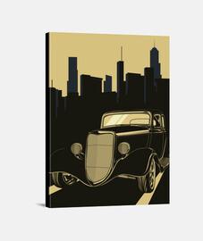 canvas artwork art deco art cars