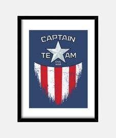 capitaine de l'équipe de trame verticale 3: 4 (30 x 40 cm)