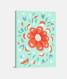 caprichosa flor roja decorativa
