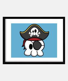 Captain Bones - Framed Horizontal