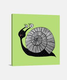 caracol lindo de la historieta con los ojos espirales