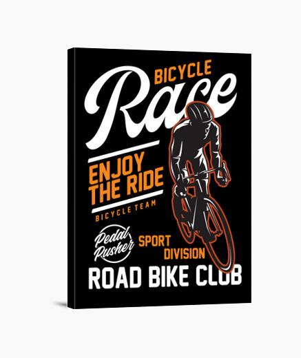 Lienzo carrera de bicicletas bicicleta de...