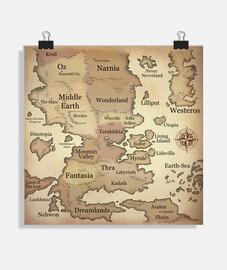 carte du monde fantastique