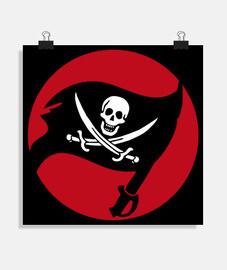 cartel - bandera pirata calico