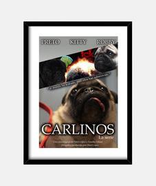 Cartel Carlinos. Cuadro con marco vertical 3:4 (30 x 40 cm)