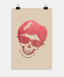 cartel cráneo y llaves