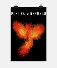 cartel llameante de phoenix