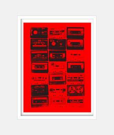 cassettes vintage noires