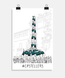 castellers: sur 2 de 9 amb folre del 39