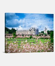 Castelli della Loira, Stampa su tela (40x30) (80x60) (100x75)