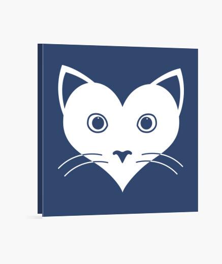 Cat lover icon lienzo