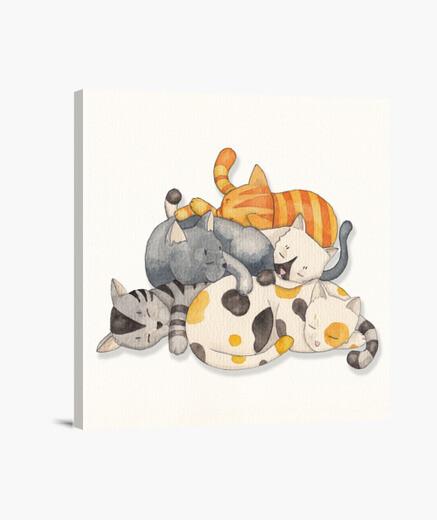 Lienzo Cat Nap -Siesta Time