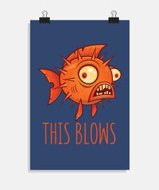 cela souffle le blowfish porc-épic